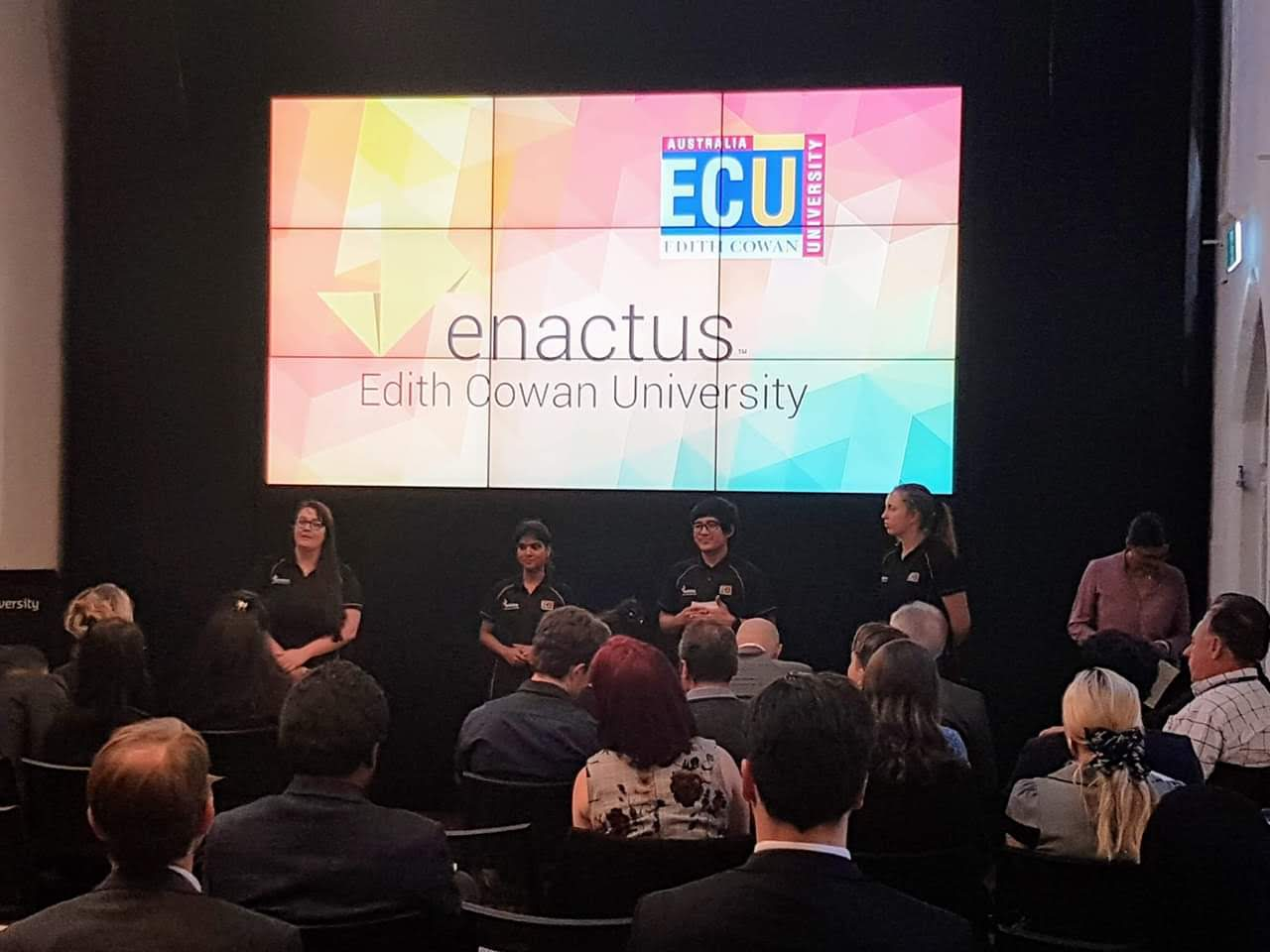 Image of Enactus ECU presenting at the Regionals.