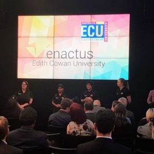 Image of Enactus ECU presenting at the Regionals.